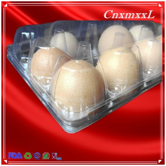 6 pcs clear egg tray
