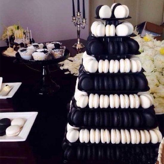 8 tier macarons tower