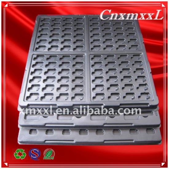 Black antistatic tray for pcb